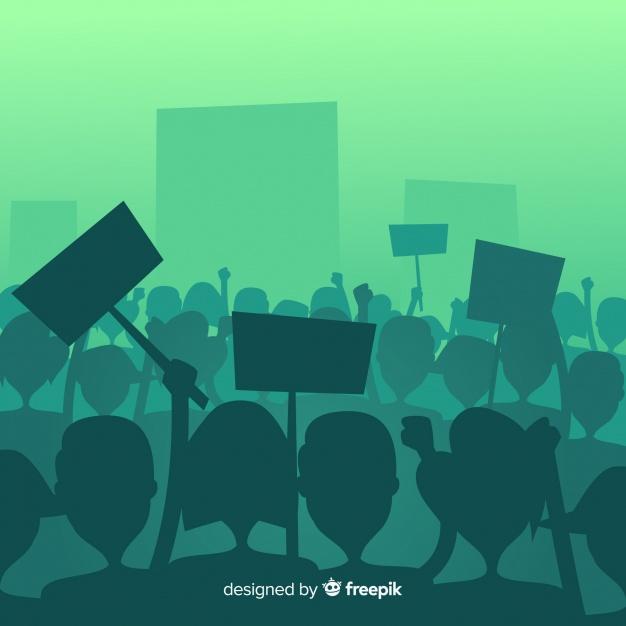 foule de gens manifestant