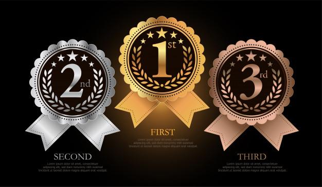 médaille 1, 2, 3